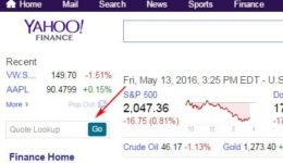 Yahoo! Finance API