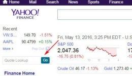 Yahoo! Finance API