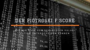 Piotroski f Score