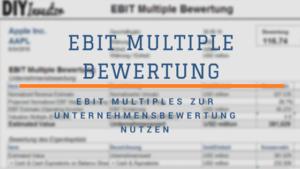 EBIT Multiple Bewertung