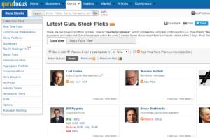 Gurufocus Portfolios Top-Investoren