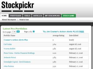 Stockpickr Portfolios Top Investoren