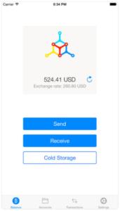 Kryptowährungen - Wallet App - Mycelium