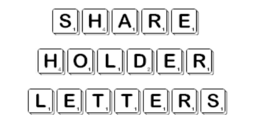 Aktionärsbrief Shareholder Letter Aktionärsbriefe