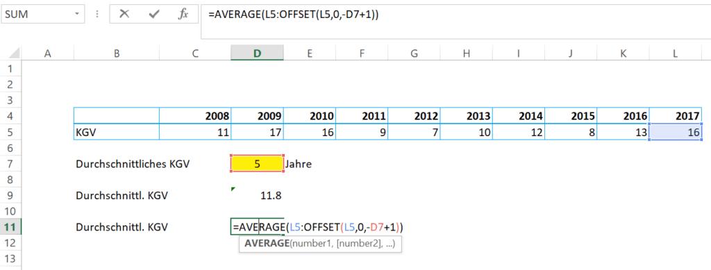 Excel Formeln für Investoren