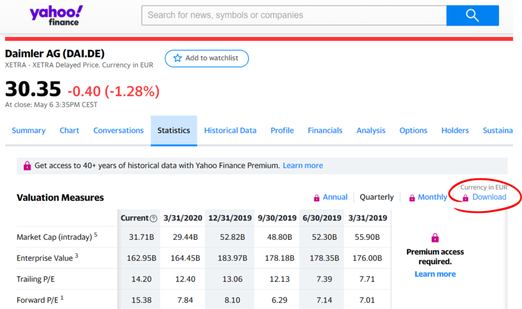Echtzeitdaten nach Excel mittels VBA Makro