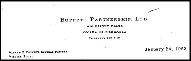 Buffett Partnership Letter Cover 1962