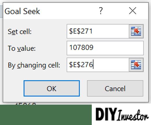 Goal Seek Parameter