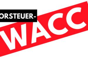Vorsteuer-WACC