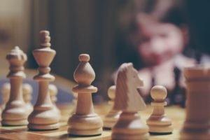 Unternehmensstrategie Schachbrett